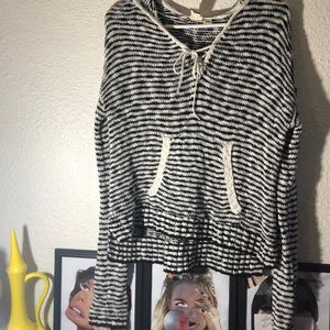 Roxy striped hooded sweater